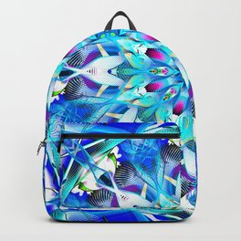Blue Deco Theme Pattern Thirty Style No 2 Backpack