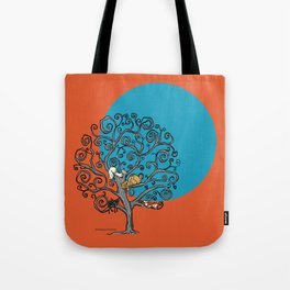 Cats Under the Blue Moon Tote Bag