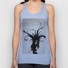 girl in the hat Unisex Tank Top