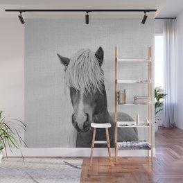 Horse - Black & White Wall Mural