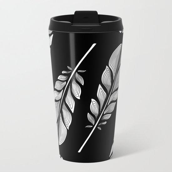 Feathers Metal Travel Mug