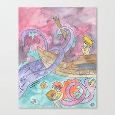 Octopus Attack Canvas Print
