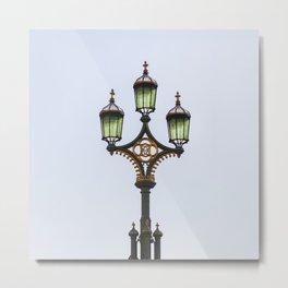 Westminster Bridge Lantern Metal Print