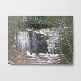 Half Frozen Waterfall Metal Print