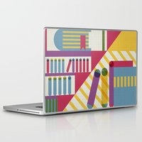 library Laptop & iPad Skins featuring Summertime's library by sansanfab