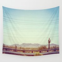 desert Wall Tapestries featuring Desert by Whitney Retter