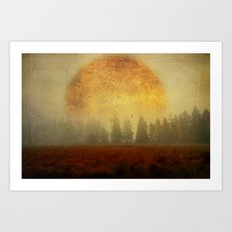 Fire of Life Art Print