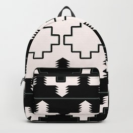 Rustic Native Indian black and white pattern Backpack