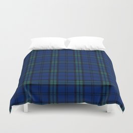 Minimalist Black Watch Tartan Modern Duvet Cover
