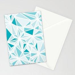 geo blue Stationery Cards