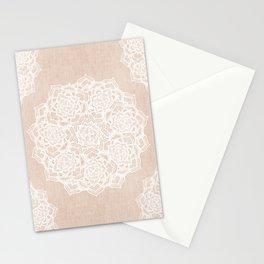 Modern boho Love Mandala pattern - Terracotta cream Stationery Cards