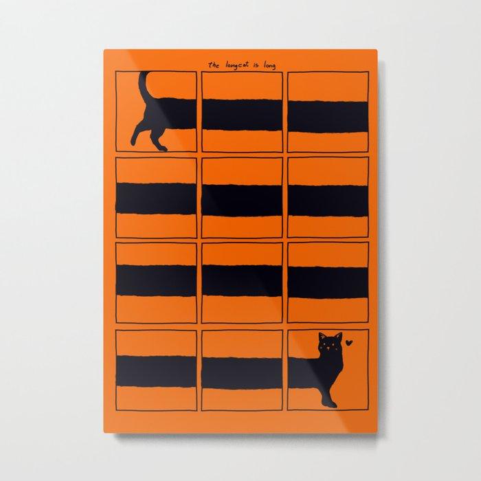 The Longcat is long Metal Print