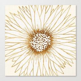 Gold Sunflower Canvas Print