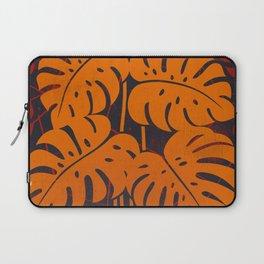 PLANTS - philodendron#2_Orange Laptop Sleeve