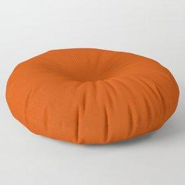 Rusty Burnt Orange Solid Rich Rust Colour Floor Pillow
