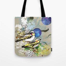 Yellow Birds Tote Bag