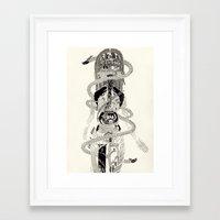biology Framed Art Prints featuring Soul Biology  by Ursula Hart