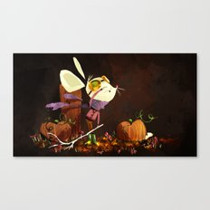 Autumn Mouse Canvas Print
