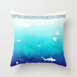 I Am The Sea Throw Pillow