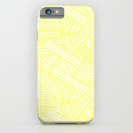 Sketchy Abstract (Light Yellow & White Pattern) iPhone Case