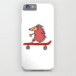 Hedgehog on Skateboard iPhone Case