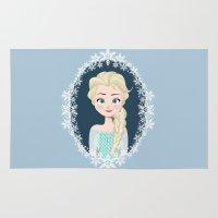 frozen elsa Area & Throw Rugs featuring Elsa by Joey Ellson