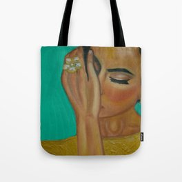 Anita - Golden Woman Tote Bag