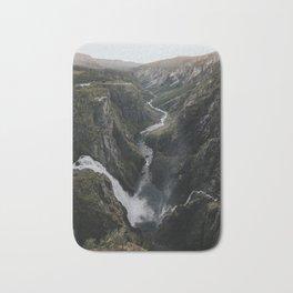 Voringsfossen Waterfall - Landscape and Nature Photography Bath Mat