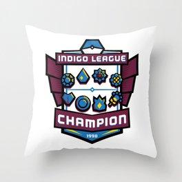 Indigo League Champion - Blue Version Throw Pillow