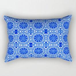 Sapphire Blue Star Rectangular Pillow