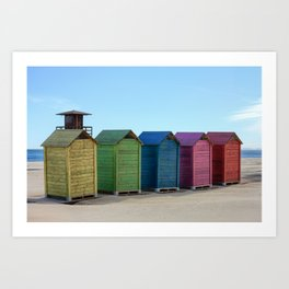 Colorful beach cabinets Art Print