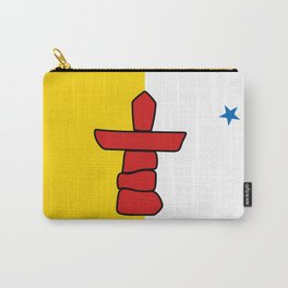Nunavut territory flag- Authentic version with Inukshuk and blue star Carry-All Pouch