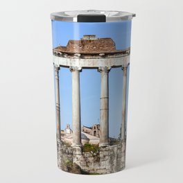 Temple of Saturn in the Roman Forum - Rome, Italy Travel Mug