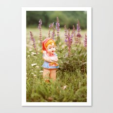 Girl with duck Canvas Print