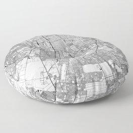 Santiago White Map Floor Pillow