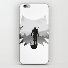 The white wolf iPhone Skin
