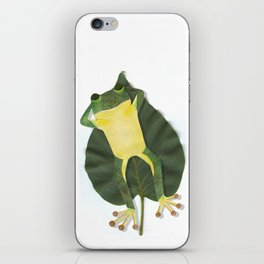 Lazy frog. iPhone Skin