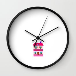 Addicted to Dollhouses Toys Dolls Fantasy Wall Clock