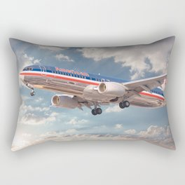 American Airlines Boeing 737 Rectangular Pillow