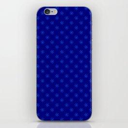 Brandeis Blue on Navy Blue Snowflakes iPhone Skin