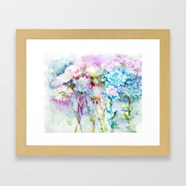 infinite love for the flowers Framed Art Print