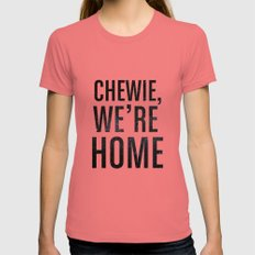 Chewie,We're Home - Galactic Womens Fitted Tee Pomegranate LARGE