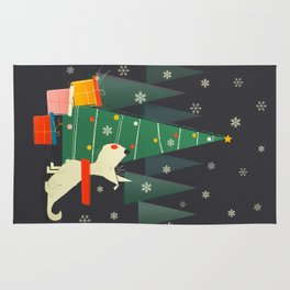 Little White Christmas Westie Rug