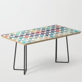 Watercolor Chevron Pattern Coffee Table