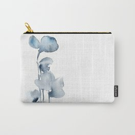 Blue grey florals Carry-All Pouch