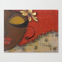 Chocolate Sassy Girl Canvas Print