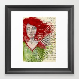 Lady in Red Framed Art Print