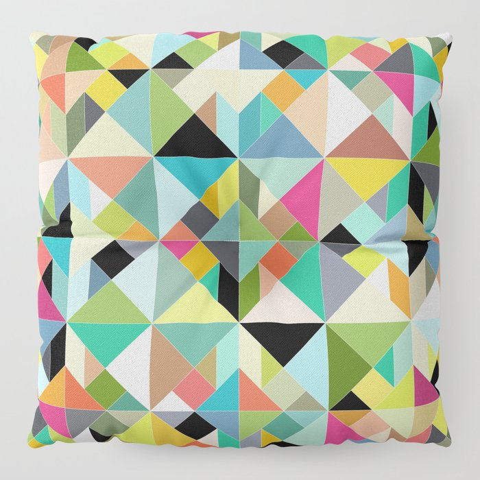 tangram geo multi Floor Pillow