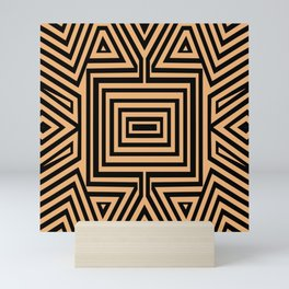African Geometric Tribal Pattern 2 Mini Art Print