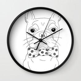 Dapper Bulldog Wall Clock